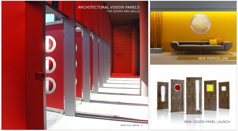 Portholes for doors and walls vision panels for doors